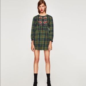 Zara checkered tunic dress